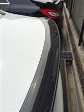 3シリーズ セダンBMW M PERFORMANCE カーボン リヤ トランク スポイラーの単体画像