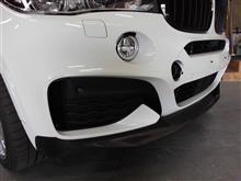 X6BMW(純正) BMW M Performance カーボン・フロント・スプリッターの単体画像
