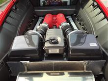 F430 BerlinettaMSレーシング マフラーの全体画像