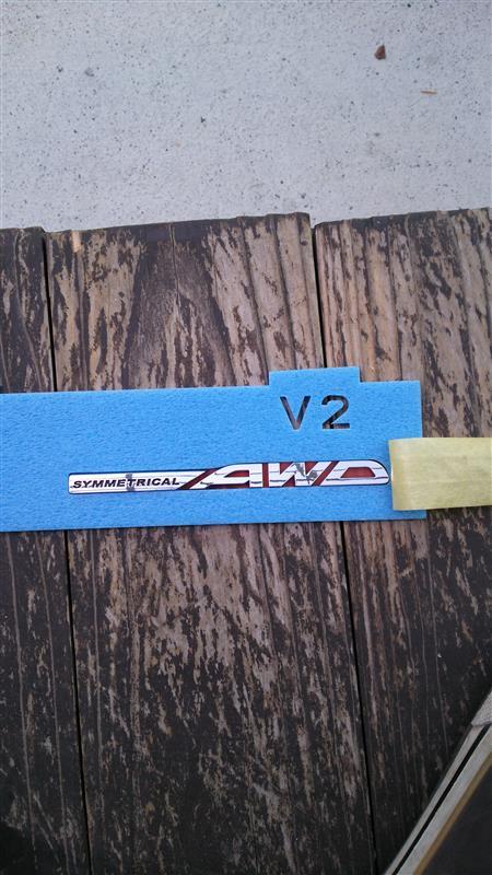 スバル(純正) SYMMETRICAL AWD ステッカー
