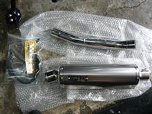 MT-25WR'S チタンオーバルサイレンサー/フルエキゾーストの単体画像