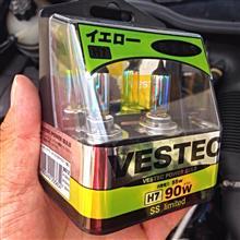 206 (ハッチバック)VESTEC ベステックパワー H7 12V 55W イエローの単体画像