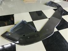 エキシージ自作 ワンオフカーボンフロントスプリッターの単体画像