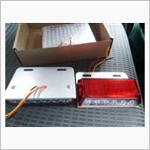 ワイド LED マーカーランプ レッド ダウンライト付 24V