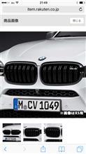 X5MBMW M PERFORMANCE ブラック キドニー グリルの単体画像