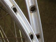 ダイアモンド ロードレーサーメーカー・ブランド不明 700C 36H チューブラーホイールF&Rの全体画像