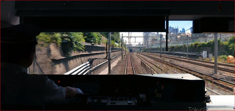 JR Yamanote - Tokyo 山手線 運転席動画4K