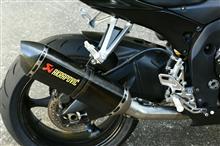 GSX-R600AKRAPOVIC スリップオンサイレンサーの全体画像