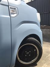 ハイゼットキャディートヨタ純正&MOON EYES 鉄チン14インチ+ステンレストリムリングの単体画像