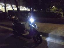 リード125GTXブラックナイト LEDヘッドライト 36W 3600LM の単体画像