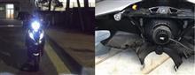リード125GTXブラックナイト LEDヘッドライト 36W 3600LM の全体画像
