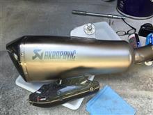 R 1200 RSアクラポビッチ BMW R1200RS スリップオンサイレンサーの全体画像
