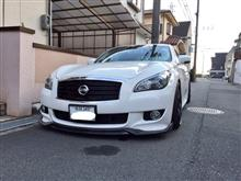 フーガACCESS EVOLUTION EXCLUSIVE SPORT Carbon Front Lip Spoillerの単体画像