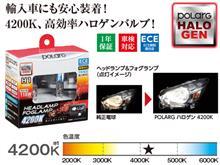 S1000RPOLARG / 日星工業 POLARG POLARGハロゲン4200K HB3の単体画像