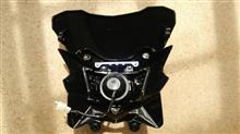 ジャイロXメーカー・ブランド不明 KSR110用フロントマスクの全体画像