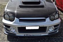 インプレッサ スポーツワゴン WRX自作 ウレタンリップスポイラーの全体画像