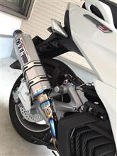 マジェスティSOVER RACING TT-FORMULA フルチタンマフラーの全体画像