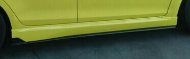 L'aunsport JWRC CUSTOM NEW SWIFTユーロカーボンサイドアンダースポイラーT2