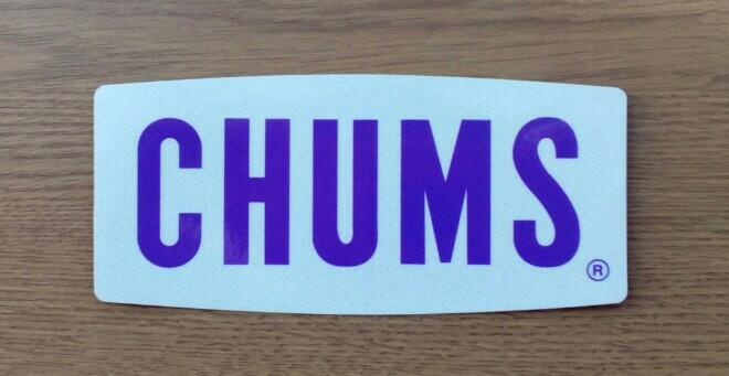 CHUMS Sticker CHUMS Reflector Logo