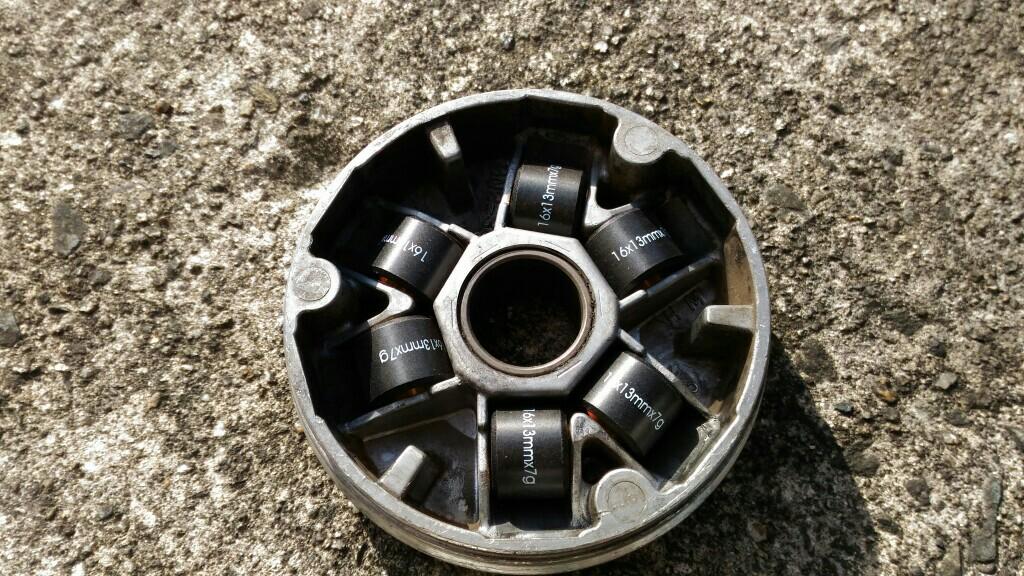 PFP(Pro Fit Parts) ウエイトローラー 16Φ X 13mm 7.0g