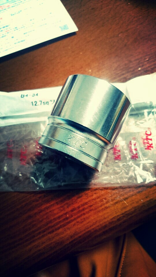 KTC / 京都機械工具 12.7sq.ソケット(六角)B4-34 34mm