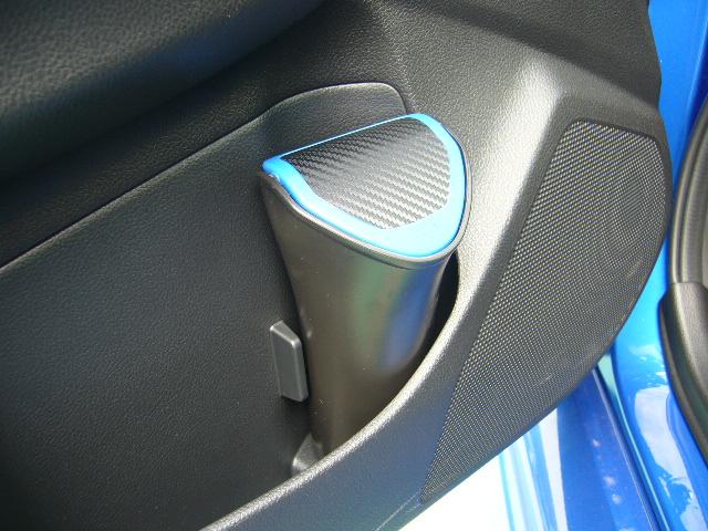 CAR MATE / カーメイト ゴミ箱 ボトル型 カーボン調 ブルー / DZ368