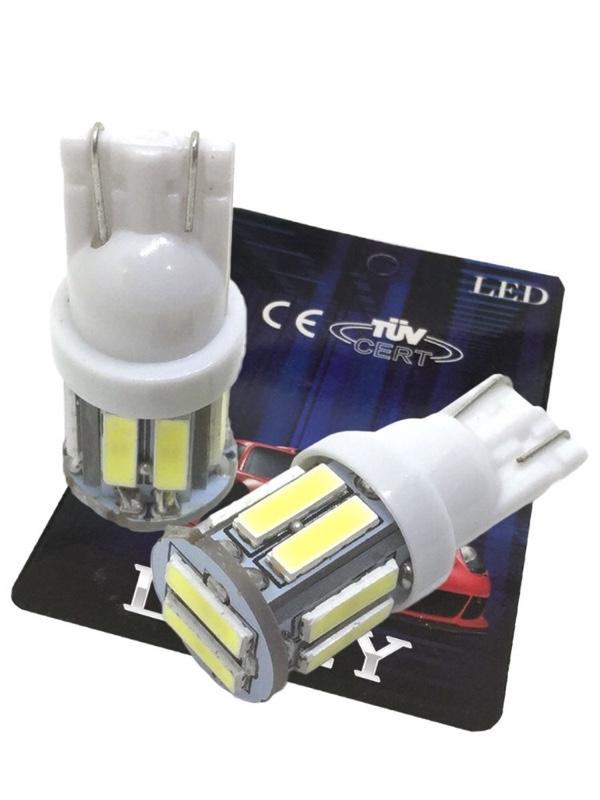LIMEY Premium T10 LED バルブ ウエッジタイプ 10連×2SMD