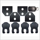 Negesu 【ロゴなし!】 スバル ドア ストライカー カバー 黒 / ストッパーカバー / LEDライト [並行輸入品]
