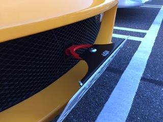 JAE RACING 牽引フック付きナンバープレートブラケット