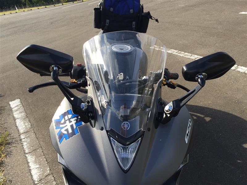 TANAX (タナックス) 汎用バイクミラー ナポレオン カウリングミラー4 ブラック オプティクス鏡 左右共通(ショートステータイプ) AEX4