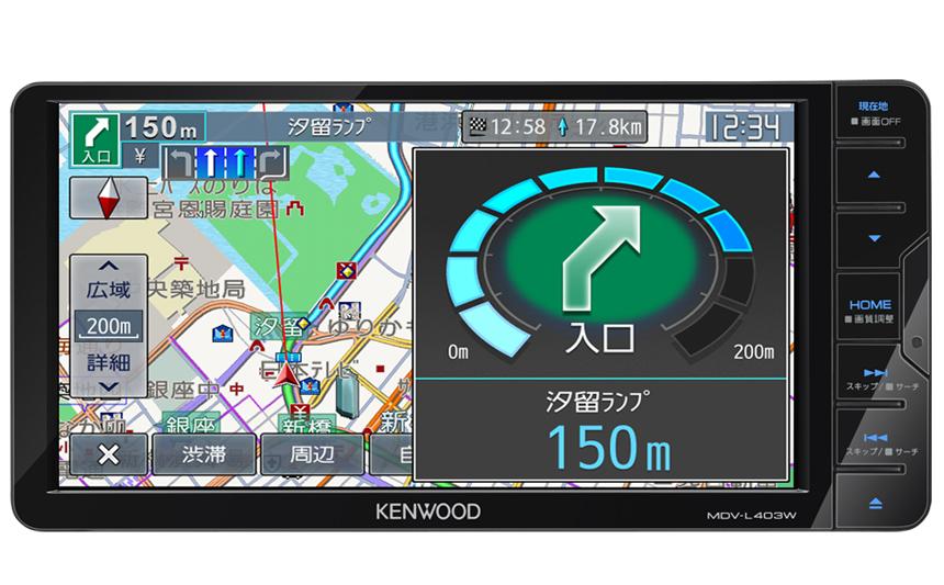 KENWOOD 彩速 MDV-L403