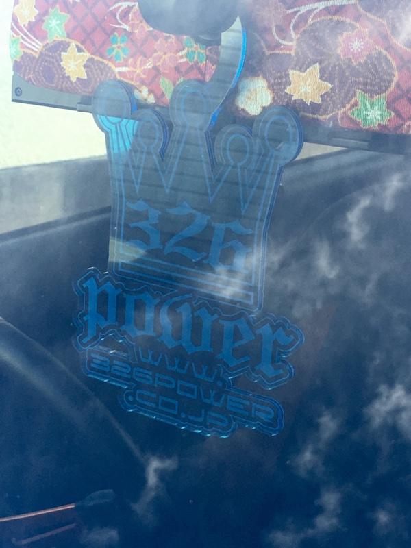 326POWER パーキングプレート(ブルー)