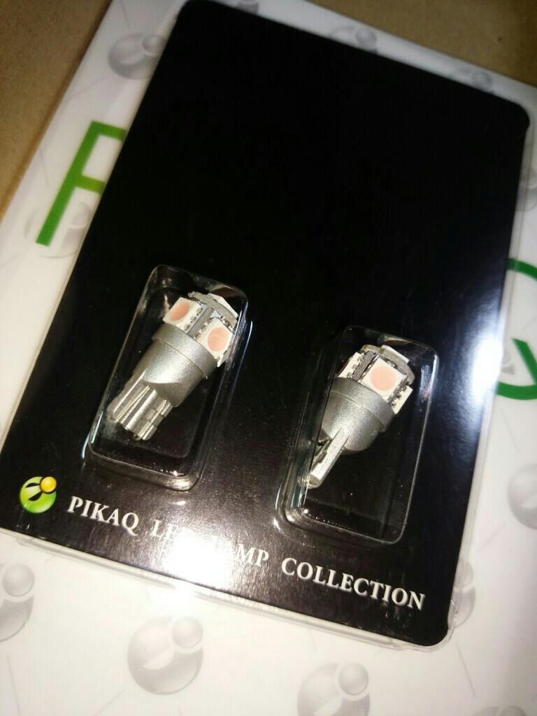 ピカキュウ T10 High Power3chip SMD 5連ウェッジシングル球 LEDカラー:ピンクパープル 無極性
