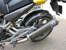 MONSTER 1000S ieテルミニョーニ カーボンスリップオンマフラーの全体画像
