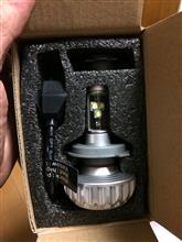 RZ250e-auto-fun バイクライトLEDヘッドライト H4 3000ルーメン 12V-24V Hi/Lo切り替え型 ファンレス一体型の全体画像