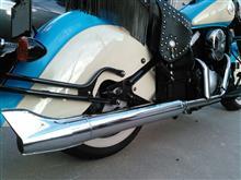 バルカン400ドリフターアメリカンドリームス ロングバズーカフィッシュマフラーの単体画像