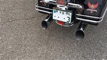 ロードキングBASSANI スリップオンマフラー スラッシュアップの単体画像
