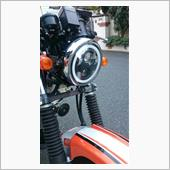 HOZAN 5.75インチ CREE製LED ヘッドライト デイタイムランニングライト付き ブラック