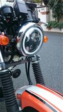 TW225EHOZAN 5.75インチ CREE製LED ヘッドライト デイタイムランニングライト付き ブラックの単体画像