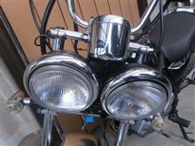バンバン200スズキ 純正ヘッドライトの単体画像