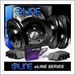 R1 COCEPTS Full Kit Black Drilled Brake Disc Rotors & Ceramic Pad