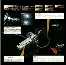 CB250F MC43BELLOF LEDヘッドランプバルブ フォース・レイの単体画像