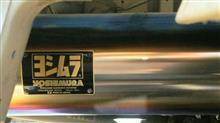 スクラムトラックヨシムラ ヨシムラ Slip-On Ovalサイクロン チタンブルーカバー/チタンブルーエンドの単体画像