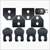 ネグエス  【ロゴなし!】 スバル ドア ストライカー カバー 黒 / ストッパーカバー / LEDライト [並行輸入品]