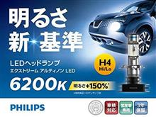 ZX-4PHILIPS X-treme Ultinon LED H4 LED Headlight 6200Kの単体画像