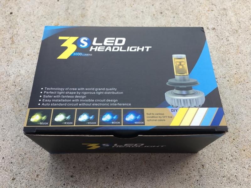 ヤフオク 3S LED HEADLIGHT 3000LUMENS H8
