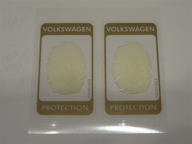 VW of America Volkswagen Protection Sticker