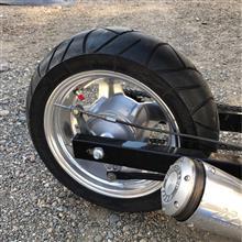 エイプ50DAYTONA(バイク) ワイドアルミホイールの単体画像
