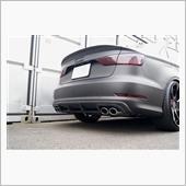 balance it Audi S3/A3 Sline SEDAN(8V)2013-2016 Rear Diffuser Ver3