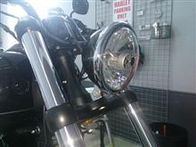 ソフテイル FXS ブラックラインハーレーダビッドソン(純正) ヘッドライト・トリムリングの単体画像